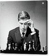 Chess Champion Robert J. Fisher Playing Acrylic Print