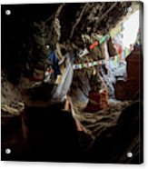 Chhungsi Cave From The Inside, Mustang Acrylic Print