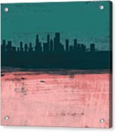 Chicago Abstract Skyline II Acrylic Print