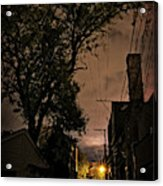 Chicago Alley At Night Acrylic Print