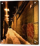 Chicago Alleyway At Night Acrylic Print