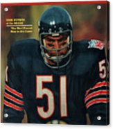 Chicago Bears Dick Butkus, 1970 Nfl Football Preview Issue Sports Illustrated Cover Acrylic Print