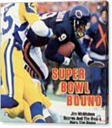 Chicago Bears Qb Jim Mcmahon, 1986 Nfc Championship Sports Illustrated Cover Acrylic Print