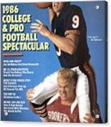 Chicago Bears Qb Jim Mcmahon And Oklahoma University Brian Sports Illustrated Cover Acrylic Print
