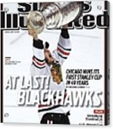 Chicago Blackhawks Jonathan Toews, 2010 Nhl Stanley Cup Sports Illustrated Cover Acrylic Print