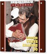 Chicago Bulls Coach Phil Jackson And Michael Jordan, 1993 Sports Illustrated Cover Acrylic Print
