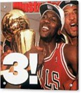 Chicago Bulls Michael Jordan, 1993 Nba Finals Sports Illustrated Cover Acrylic Print