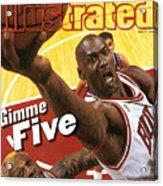Chicago Bulls Michael Jordan, 1997 Nba Finals Sports Illustrated Cover Acrylic Print