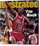 Chicago Bulls Michael Jordan... Sports Illustrated Cover Acrylic Print