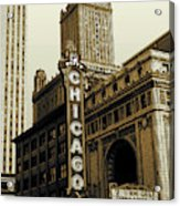 Chicago Cinema Theater - Vintage Photo Art Acrylic Print