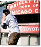 Chicago Cubs Fans Watch Wild Card Game Acrylic Print