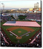 Chicago Cubs V Los Angeles Angels Of Acrylic Print