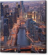 Chicago Downtown - Aerial View Acrylic Print