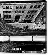 Chicago L Train On Tracks Acrylic Print