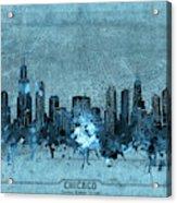 Chicago Skyline Vintage 4 Acrylic Print