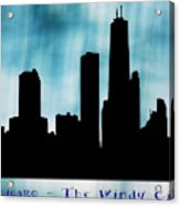 Chicago The Windy City Acrylic Print