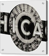 Chicago Theater Marquee - T-shirt Acrylic Print