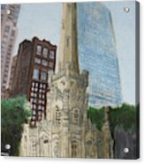 Chicago Water Tower 1a Acrylic Print