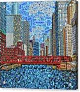 Chicago Wells Street Bridge 2 Acrylic Print
