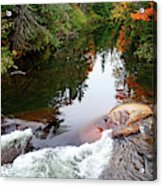 Chikanishing River In Autumn Acrylic Print
