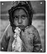 Children Of Nepal - Monochrome Portraits Acrylic Print