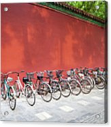 Chinese Bikes Acrylic Print