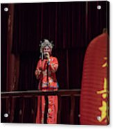 Chinese Opera Singer Onstage Acrylic Print