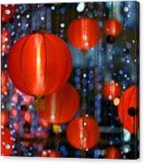 Chinese Paper Lantern Shallow Depth Of Acrylic Print