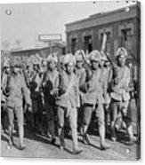 Chinese Soldiers Marching With Weapons Acrylic Print