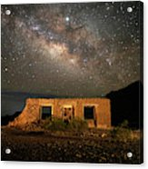 Chisos Mountain Homestead Under The Milky Way Acrylic Print