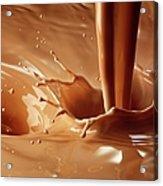 Chocolate Milk Pour And Splash Acrylic Print