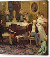 Chopin Playing The Piano In Prince Radziwills Salon Acrylic Print