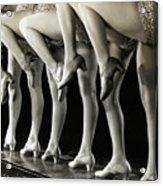 Chorus Girls Legs Acrylic Print
