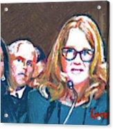 Christine Blasey Ford Testifies Before Senate Acrylic Print