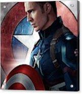 Chris Evans Captain America  Avengers Acrylic Print