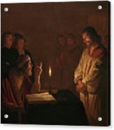 Christ Before The High Priest, 1617 Acrylic Print