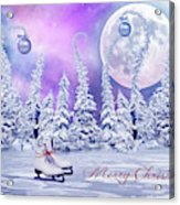 Christmas Card With Ice Skates Acrylic Print