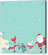 Christmas Dancing Acrylic Print