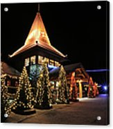 Christmas Decorated Town Acrylic Print
