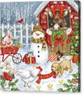 Christmas Farm Animals Acrylic Print