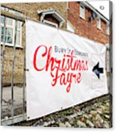 Christmas Fayre Sign Acrylic Print