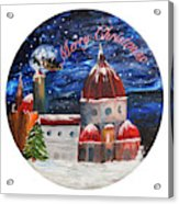 Christmas Greeting In Florence  Acrylic Print