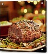 Christmas Roast Beef Dinner Acrylic Print