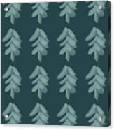 Christmas Tree Pattern Acrylic Print