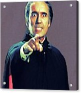 Christopher Lee As Dracula Acrylic Print
