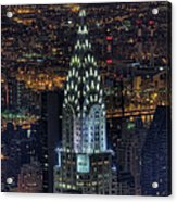 Chrysler Building At Night Acrylic Print