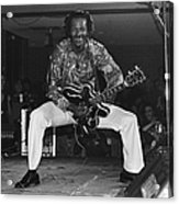 Chuck Berry Performs Live Acrylic Print