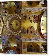 Church Ceiling Serbian Orthodox Resurrection Cathedral Saborni Hram Hristovog Vaskrsenja Podgorica Acrylic Print