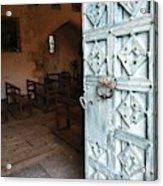 Church Door Tremouille Auvergne Francd Acrylic Print