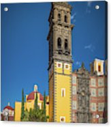 Church Of San Francisco In Puebla Acrylic Print